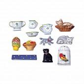 Moule miniatures cuisine, 12 motifs 2-5cm