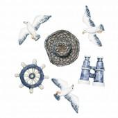 Figurines décoratives thème marin, 2-4cm, 6 pces