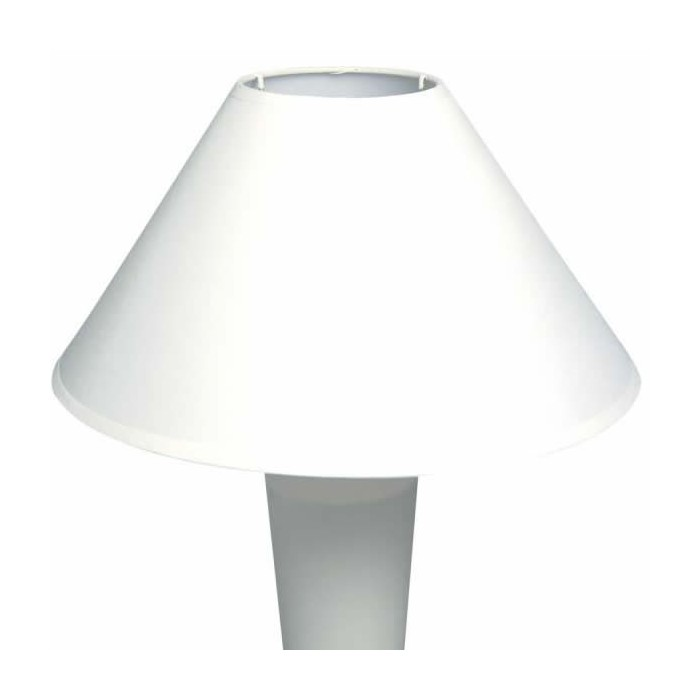 Lamp shade round, bottom Ø30cm, height 19cm, white