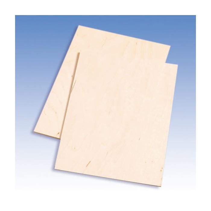 4 birch plywood plates for fretwort, 21x30cm