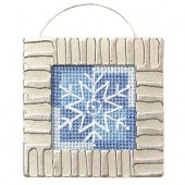 Kit snowflake with metal frame, 6x6cm