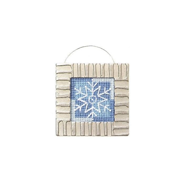 Kit snowflake with metal frame, 6x6cm