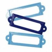 Metal frames, blue, 3 pces, 6x2cm