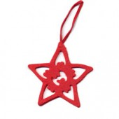 Felt star red 8cm