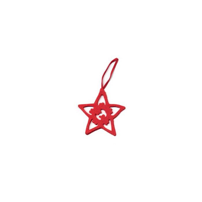 Felt star red 8cm