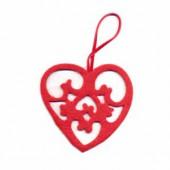 Coeur en feutre rouge 8cm