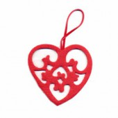 Felt heart red 8cm