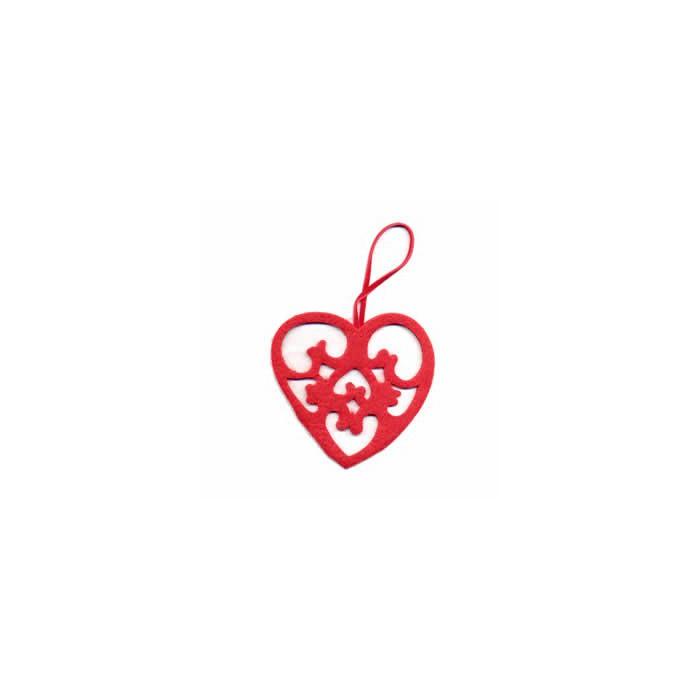 Felt heart red 8cm