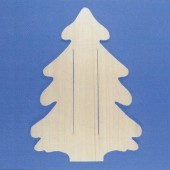 Wooden board fir tree 45cm