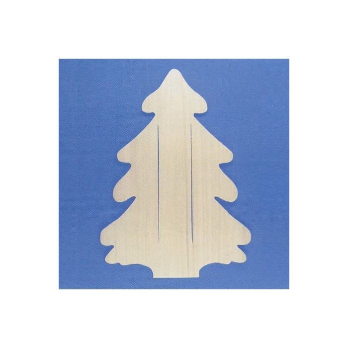 Wooden board fir tree 45cm