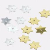 Glitter, silver stars 8mm, 3g