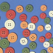 Assorted wooden buttons, Ø7mm, 12 pces