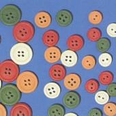 Boutons en bois, couleurs mélangées, Ø7mm, 12 pièces
