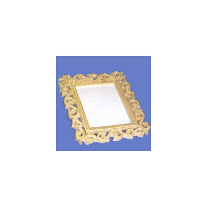 Wooden frame with glass 21x24cm