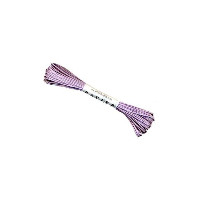 Paper yarn, 15m, lilac