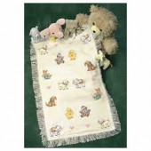 Counted Cross Stitch kit - Sweet Animal Afghan