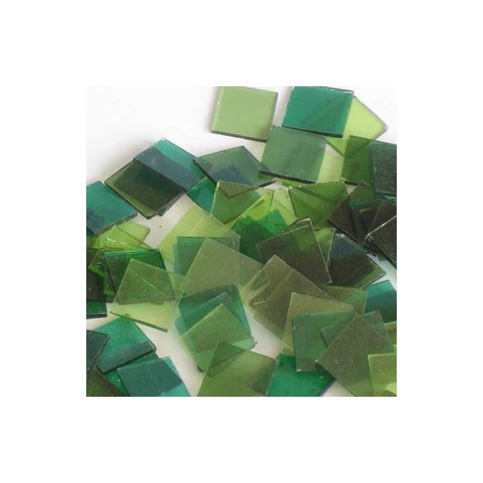 Starter kit Crystal Mosaïc 15x15mm - 200g, green assorted