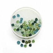 Swarovski beads, 6mm, green colours, 25 pces