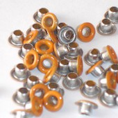 Oeillets ronds, 3.2mm, 45-50 pièces, orange