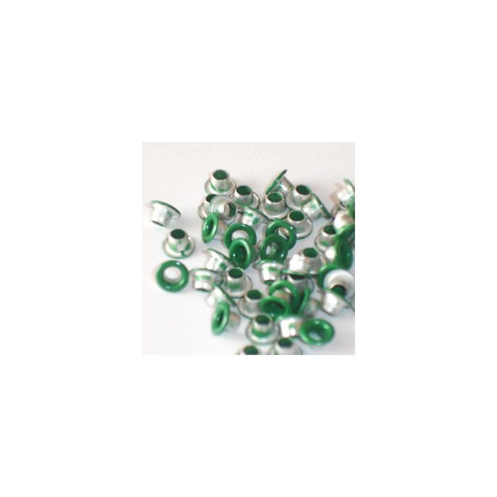 Eyelets 3.2mm, 45-50 pces, green
