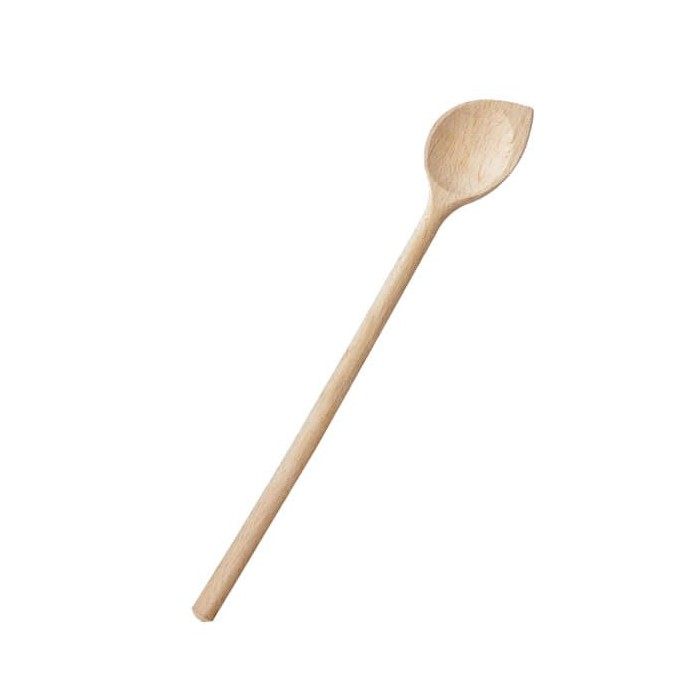 Wooden spoon round with point, 30cm