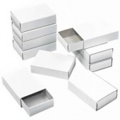 Matchboxes white, 10 pces