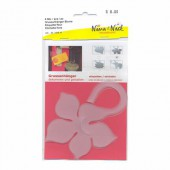 Plastic tag flower, 4 pces