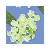 Mini fleurs et feuilles, vert clair