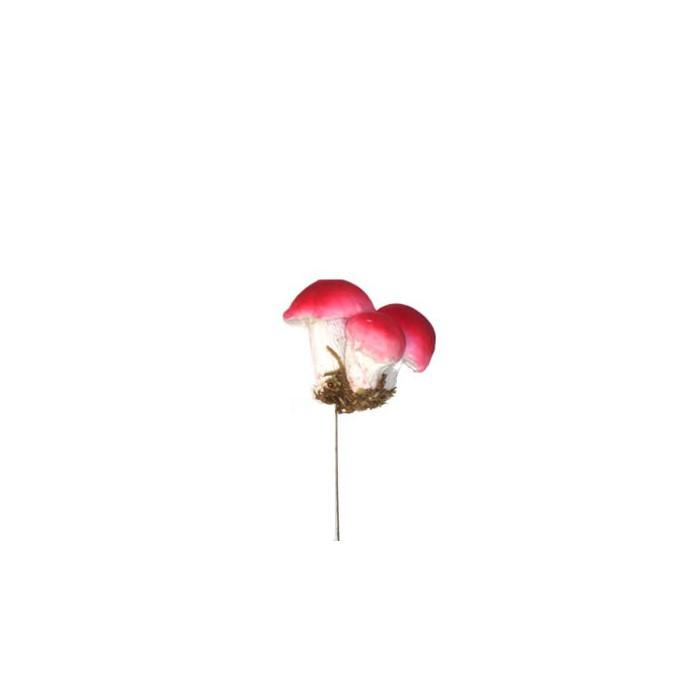 Mushroom, dark red, 4cm