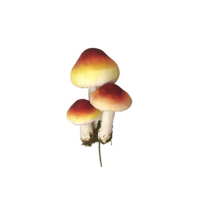 Mushroom, yellow-brown, 9cm