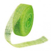 Jute ribbon 40mm/1m, green