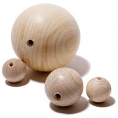 Wooden bowls 10mm, drilled