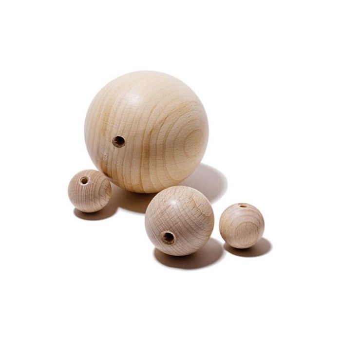 Wooden bowls 12mm, drilled