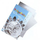 Metallic foils, silver, 3 pces