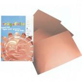 Feuilles métalliques cuivre, 3 pièces