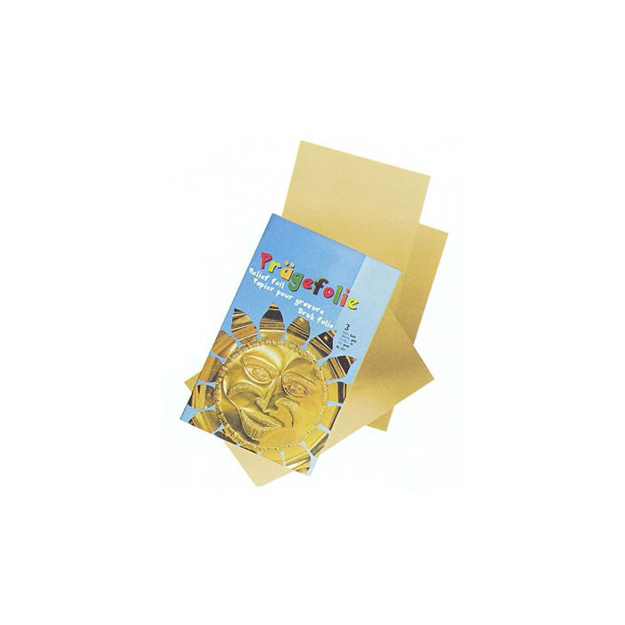 Metallic foils, gold, 3 pces