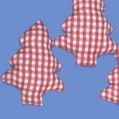 Sapin en tissu vichy rouge 6cm