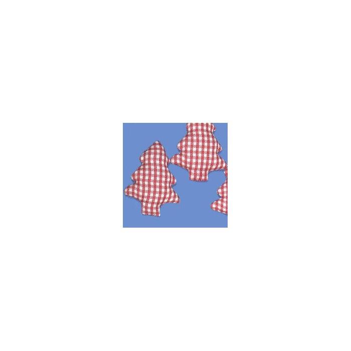 Fabric fir-tree red-white, 6cm