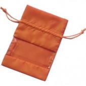 Pochette cadeau textile orange, 17x12cm