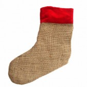 Jute boot, red border, 26cm