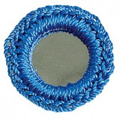 Crochet mirrors, blue