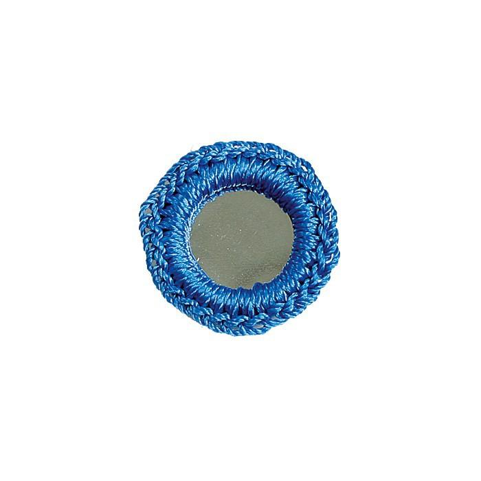 Crochet mirrors, blue