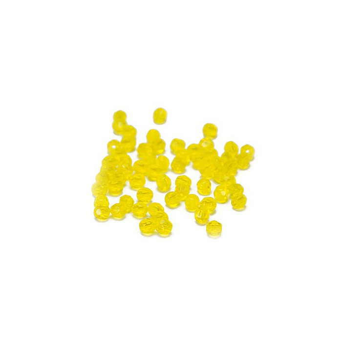Graphic beads 4mm, yellow, +/-44 pces