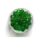 Perles à facettes 8mm, vert clair, +/-25 pces