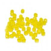 Perles à facettes 6mm, jaune, +/-28 pces