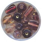 Indian Glass beads, amethyst assortment