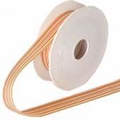 Ribbon orange stripes, 25mm/1m