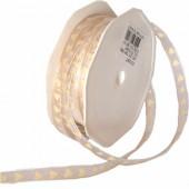 Ruban Lovely ivoire, 7mm/1m