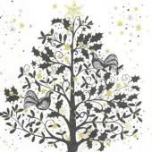 Serviette arbre, noir
