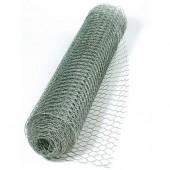 Wire mesh, 10cm/2.45m, platinum